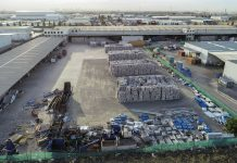Aerial photo of SKM's recycling plant at Laverton North.